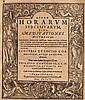 Operae horarum subcisivarum sive meditationes historicae. 2. Teil (von 3 Tlen.). Titel mit Holschnitt-Bordüre u. 1 ganzseitiger Holzschnitt. Frankfurt, Saur u. Kopff, 1506 (i.e. 1606). 8°. 12 nn. Bll., 391 num. S., 25 nn. Bll. (Index). Privateinband: