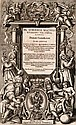 Dierum Canicularium. Tomi Septem. Mit 1 gest. Titelseite, 1 gef. Tabelle und Holzschnitt-Buchschmuck, Frankfurt, Schönwetter, (1642). 4 Bll., 960 S., 164 S., 31 Bll. 4°. Prgt d. Zt. mit Wappensupralibros und Schließbändern bzw. Schweinsldr. d. Zt.