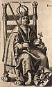 Germania Topo-Chrono-Stemmato-Graphica Sacra Et Profana ... Pars altera. 3 Teile in 1 Bd. Mit zahlr. Textholzschnitten, Kupfertitel u. 39 Kupfertafeln. Augsburg, Praetorius, 1662. 6 Bll., 155 Bll., 347 S., 17 Bll., 423 S. Folio. Ldr. d. Zt.