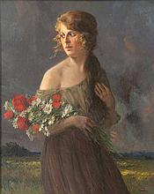 Rabes, Max FriedrichFeldblumen (Junge Frau mit