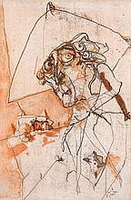 Mackensen, Gerd Bein/Stiefel/Fritz/Dunkler Mann und dunkle Frau. Konvolut aus 4 Werken. 1986(?). 3 Farbaquatintaradierungen, 1 Radierung auf festem Bütten. Blattmaße je ca. 28,5 x 20 cm. Je signiert, betitelt, teils unleserlich datiert, je als