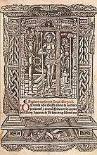 Stundenbuchblatt auf dünnen Bütten. Holzschnitt