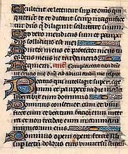 Stundenbuchblatt auf Pergament mit 15 goldgehöhten