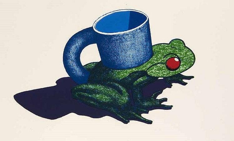 Price, Ken Frog cup. 1968. Farblithographie auf