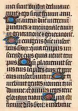 Stundenbuchblatt auf Pergament. Mit 11