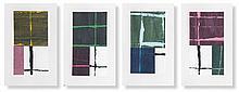 Robbins, Bruce Berlin Windows. 1996. 4 Arbeiten. Jede Arbeit bestehend aus je 2 Blatt Mischtech