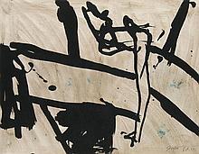 Mackensen, Gerd Strasse. 1989. Mischtechnik auf Papier. 30,5 x 40 cm. Monogrammiert u. betitelt sowie verso erneut monogrammiert, betitelt u. datiert.
