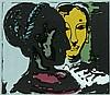Rödel, Karl  6 Lithographien auf verschiedenen Papieren. 28 x 18 cm bis 36 x 22 cm (39 x 27,5 bis 50 x 40 cm). Je signiert. - Blätter teils mit minimalen Knickspuren bzw. Flecken am Rand., Karl Rödel, Click for value