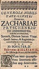 Schilter, Johannes Manuductio philosophiae moralis ad veram, nec simulatam Jurisprudentiam. Jena, Bielke, 1676. 6 (von 7) Bll., 588 S., 32 Bll. Pgt. d. Zt.