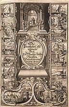 Biblia, Das ist: Die gantze Heilige Schrift, Altes und Neues Testaments. Verteutscht von Herrn Doctor Martin Luther ... Samt einer Vorrede von Johann Michael Dilherrns. Mit 1 Porträt-Tafel, 6 gestoch. Kupfertiteln sowie 226 Textholzschnit ten von