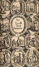 Biblia, Das ist: Die gantze H. Schrift Altes und Neues Testament (...). wie auß folgender Vorrede ... D. Wellers erhellet. Mit 24 Kupfertafeln. Lüneburg, Stern, 1707. 3 Tle. in 1 Bd. 44 nn. Bll., 358, 258, 180 Bll. 4°. Ldr. d. Zt. mit Deckelverg.