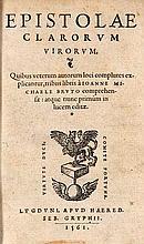 Brutus, Jan Michel Epistolae clarorum virorum, quibus veterum autorum loci complures explicantur. 3 Teile in 1 Bd. Mit Holzschnitt-Druckermarke auf Titel. Lyon, Gryphius Erben, 1561. 445 S. (Spät.) HLdr. mit RSchd. (berieben).