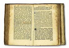 Buchler, Joannis Thesaurus conscribendarum epistolarum. Mit Holzschnitt-Druckermarke u. Holzschnitt Buchschmuck. Douai, Belieri, 1628 430 S., 4 Bll. 12° Prgt. d Zt. (etwas berieben, bestoßen u. fleckig).
