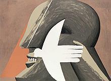 Antes, Horst Für Papst Paul VI. 1975. Farblithographie auf BFK Rives Büttenkarton. 47,8 x 65,9 cm (56 x 72,5 cm). Signiert und nummeriert sowie mit den Trockenstempeln der Edition