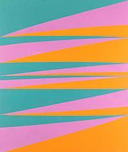 Bill, Max Variation in drei Farben. 1974. Farblithographie. 90 x 70 cm. Signiert, datiert u. nummeriert. In unterer linker Bildecke mit Blindstempel der Erker Presse St. Gallen. - Minimal knickspurig.