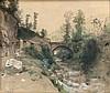Schick, Rudolf (zugeschrieben) Carrara. 1878. Bleistift und Aquarell auf Velin. 27 x 32,5 cm. Datiert und betitelt. - Auf Karton aufgezogen und unter Glas gerahmt., Rudolf Schick, Click for value