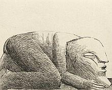 Antes, Horst Kriechende Figur. 1972. Radierung auf Velin. 19,8 x 24,8 cm (53,5 x 39,5 cm). Signiert u. nummeriert.