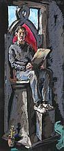 Bunk, Holger o.T. (Auf dem hohen Thron). Zwei Werke. 1985. Je Pastell auf schwarzem Bütten. Je 48 x 21 cm. Je signiert und datiert. - In den Ecken mit winzigen Löchlein von Reißzwecken. An den Rändern u. verso etwas fingerfleckig.