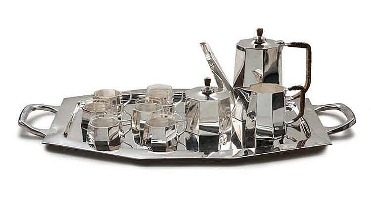 modernes mokkaservice im bauhaus stil franz bibus sohn p. Black Bedroom Furniture Sets. Home Design Ideas