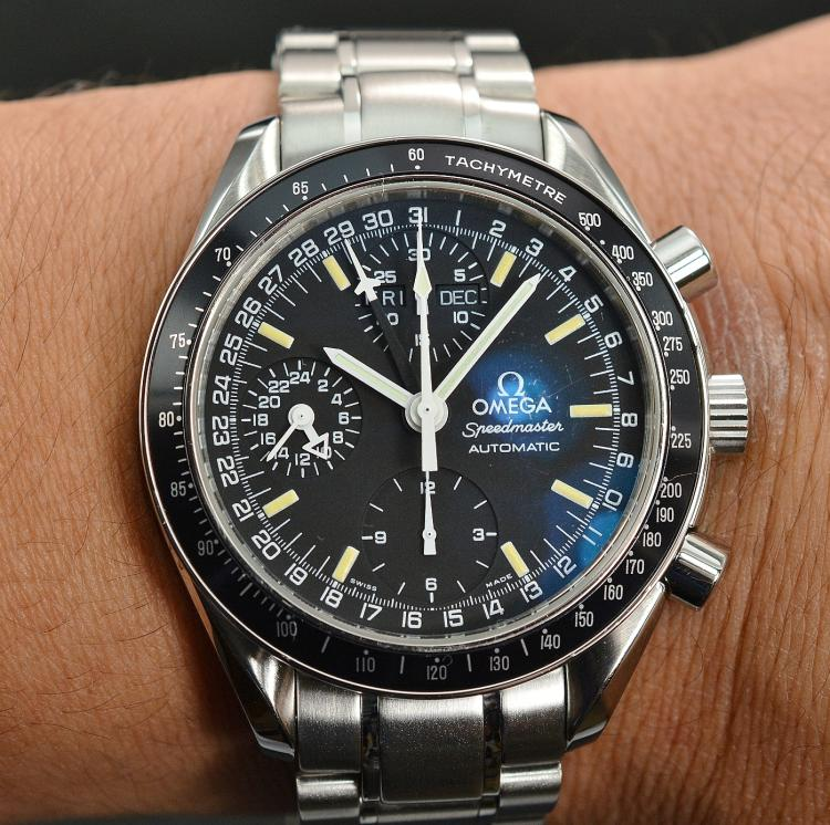 omega triple date speedmaster Many models have been developed around the omega speedmaster the triple-register omega is currently designing a speedmaster capable of.