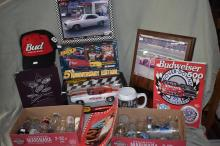American Muscle Die Cast Chevrolet Camaro Official Pace car 1:18, Race Cards Maxx 5th Anniv. Edition, Bud hat & Dover Downs 25th Anniv. booklet, Bill Elliott plaque, etc.