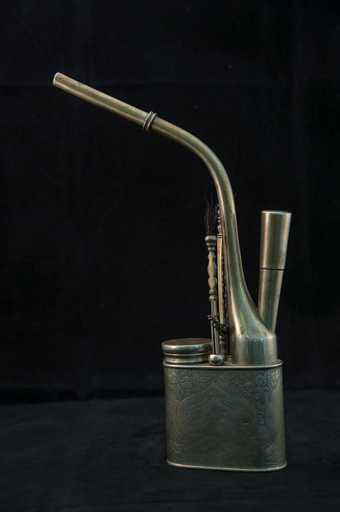 CHINESE SILVER OPIUM PIPE
