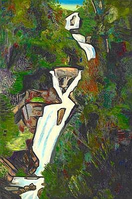 JEFFREY MAKIN BORN 1943 STEPHENSON FALLS, 90 OIL