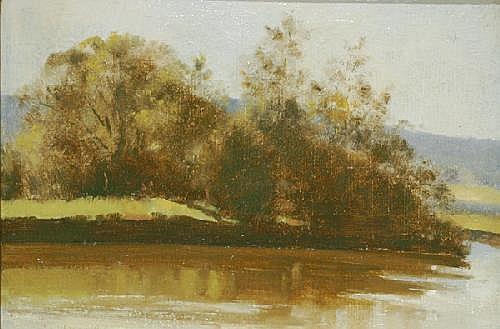 ALBERT ERNEST NEWBURY (1891 - 1941) River Bend