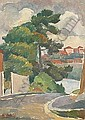 ROLAND WAKELIN (1887 - 1971) Street at Waverley,, Roland Wakelin, Click for value