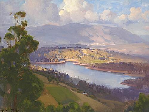 ERNEST BUCKMASTER (1897 - 1968) Sylvan Dam, 1942