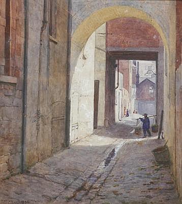 JOHN MATHER (1848 - 1916) Off Little Bourke