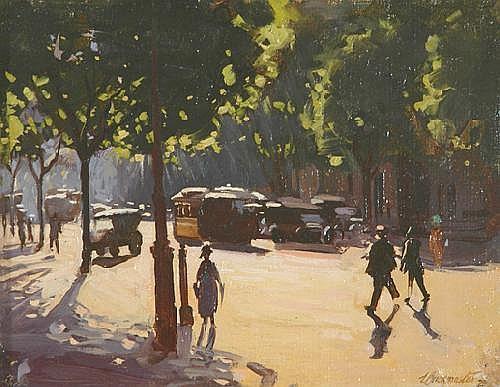 ERNEST BUCKMASTER (1897 - 1968) Collins Street,
