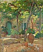DUNCAN MAX MIDDLETON Born 1922 Courtyard 1972 Oil, Duncan