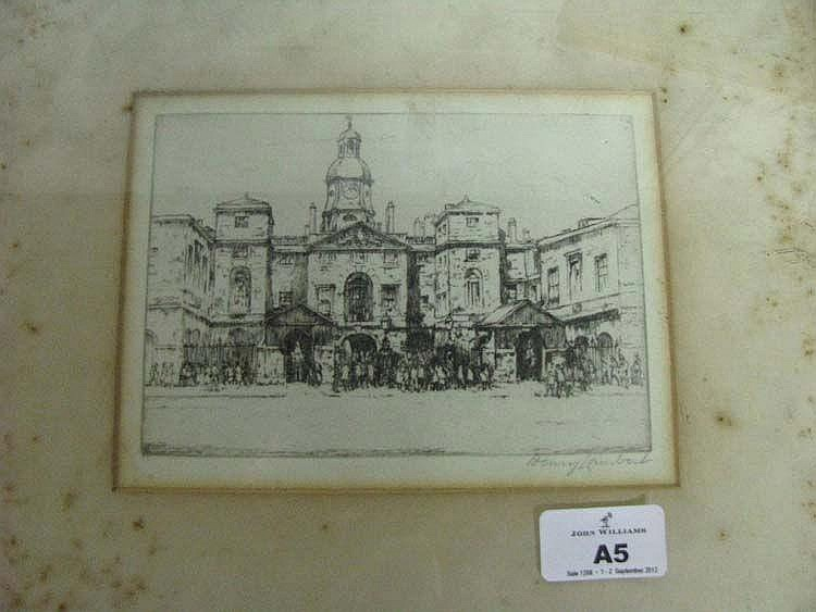 HENRY LAMBERT 'The Royal Academy, London' signed