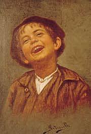 Arturo Petrocelli (Italian 1856) Portrait of a
