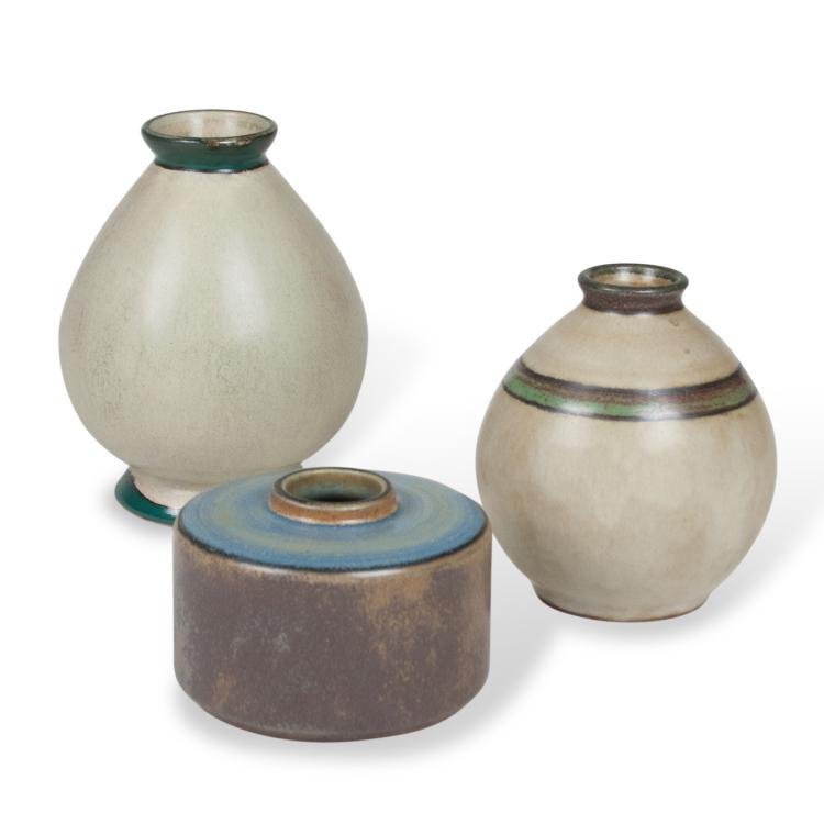 Three Ceramic Vases by Francis Jourdain, c. 1930