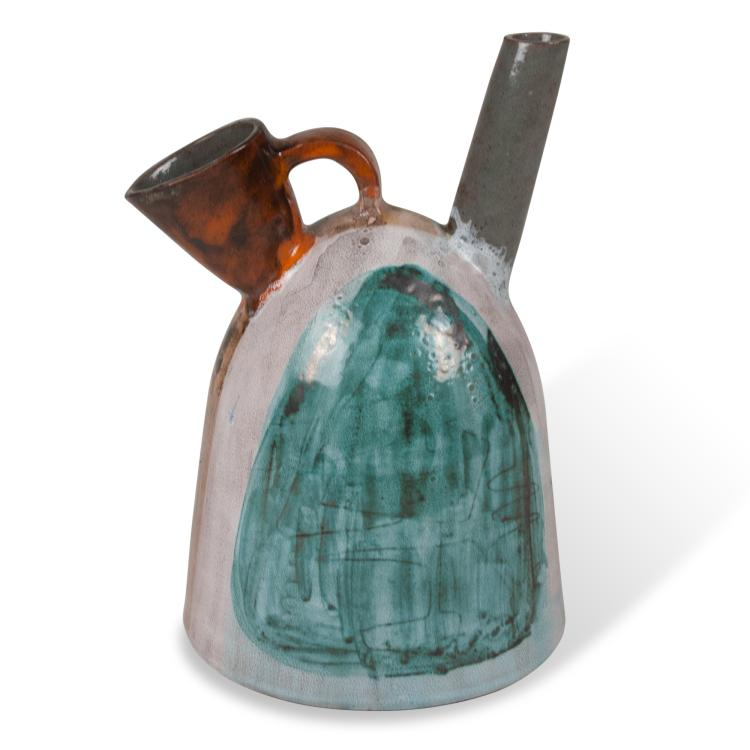Ceramic Pitcher by Juliette Derel, French 1950s