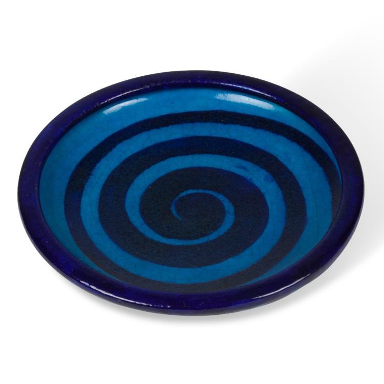 Blue Swirl Ceramic Dish by Primavera