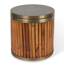 Bamboo and Brass Ice Bucket by Gabrielle Crespi