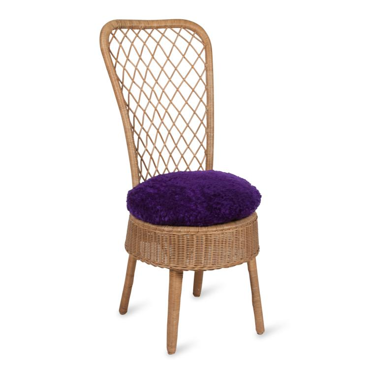 Rattan High Back Chair by Jean Royere