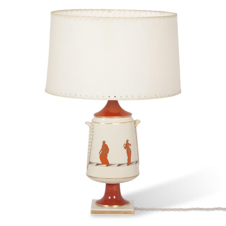 Gio Ponti for Ginori Table Lamp, Italian 1920s
