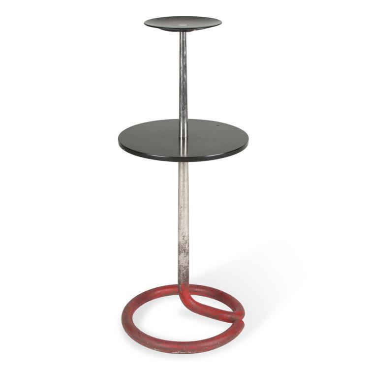 Rene Herbst Bakelite and Chrome Table