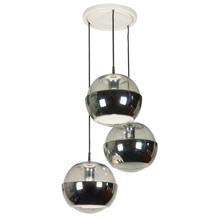 Triple Sphere Hanging Light by Peill and Putzler, German, 1960s