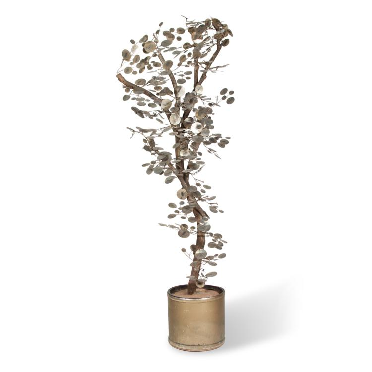 Brass Tree Sculpture by Curtis Jere