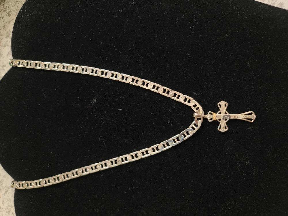 Sterling Silver Cross Necklace LOT 329