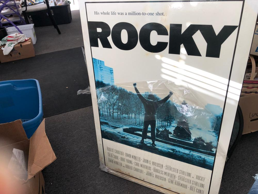 LARGE ROCKY MOVIE POSTER ON WOOD LOT 173