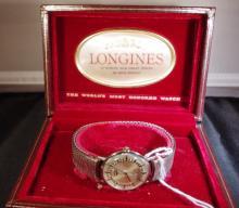 14 k White Gold Mens Longines Watch