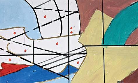 PEPE CACERES (né en 1945)CompositionGouache sur