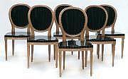 PUCCI DE ROSSI (né en 1947) Suite de six chaises