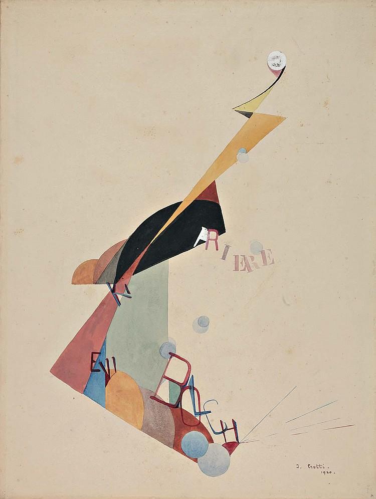 Jean CROTTI (1878-1958) « PRIÈRE BOLCHEVIKI »,